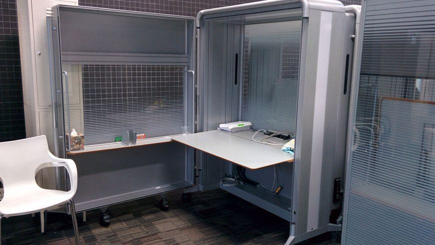 Le bureau valise ouvert