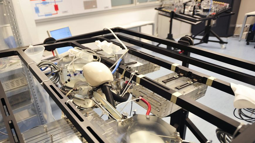 Le coeur artificiel de Carmat, ici en essai lors de tests techniques