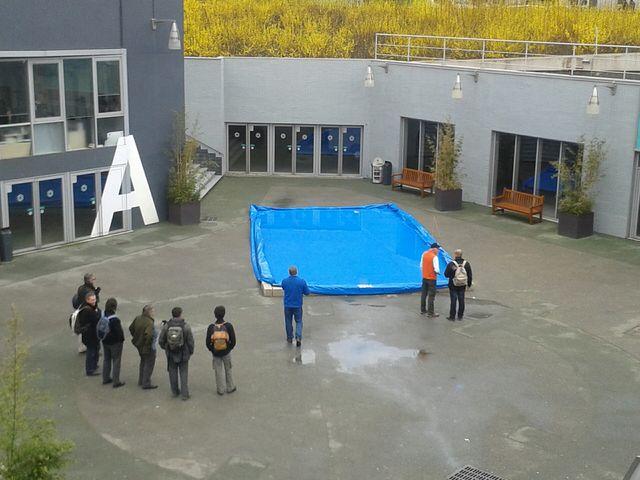 Salon de la Pêche sportive, les amateurs s'entraînent à la pêche à la mouche