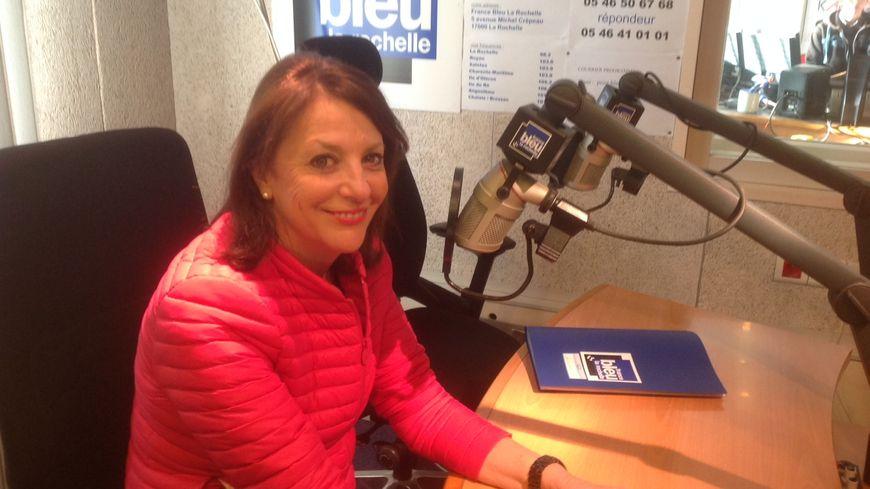 Dominique Morvant dans les studios de France Bleu LA Rochelle ce lundi matin