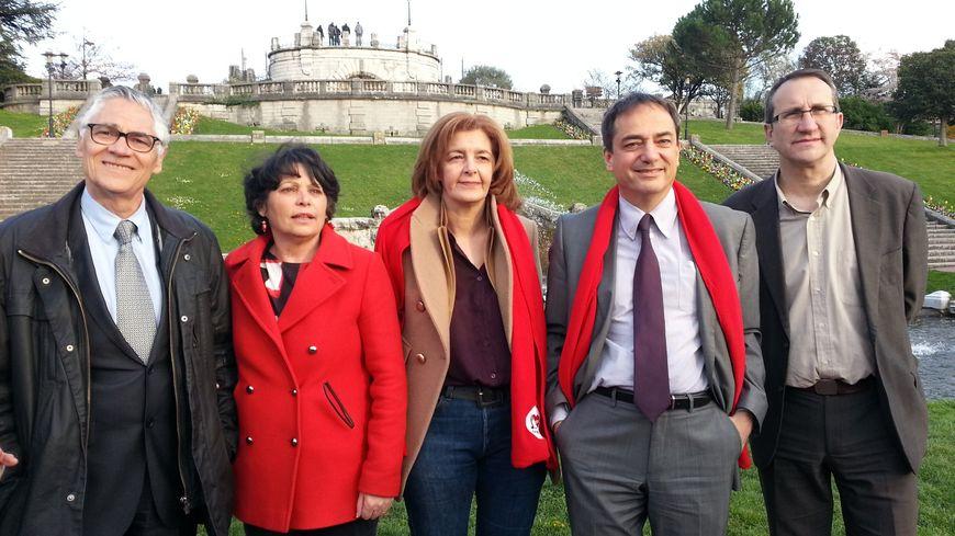 Les 5 premiers de la liste d'union de la gauche à Valence, pour le second tour