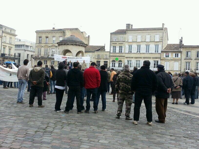 Une délégation reçue par le sous-préfet de Libourne. - Radio France