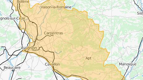 Le département du Vaucluse