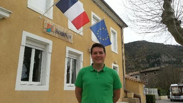 Le nouveau maire de Rompon en Ardèche Yann Vivat a 25 ans