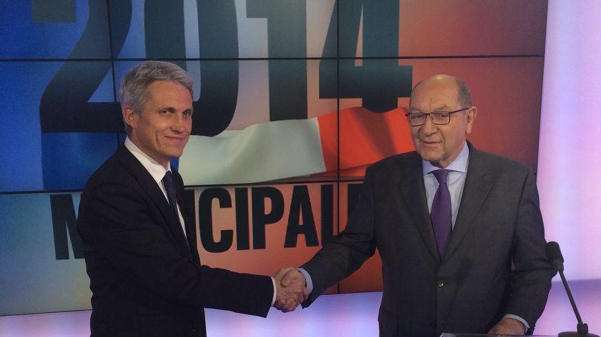 Joël Bruneau face à Philippe Duron : le duel du second tour des municipales à Caen.