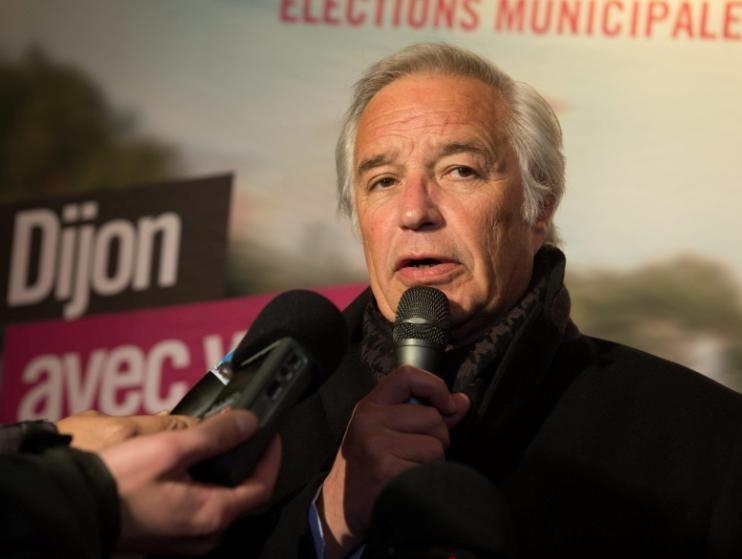 François Rebsamen a été reconduit pour une troisième mandature. - Maxppp