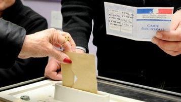 Un bureau de vote (illustration)
