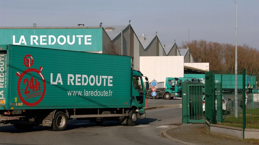 Le site logistique de la Redoute à Wattrelos dans le Nord