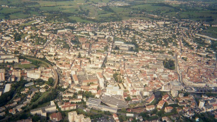 Vue aérienne d'Aurillac.