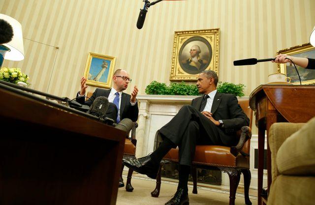 Barack obama et Arseniy Yatsenyuk