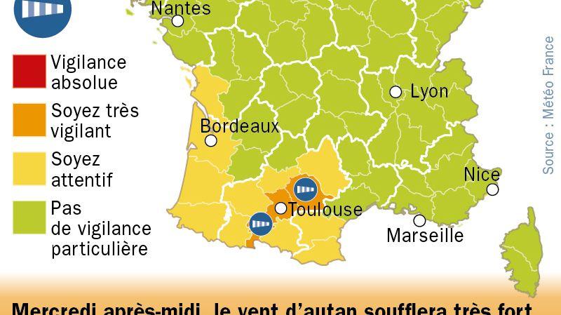 Le bulletin de Météo France est valable jusqu'au mercredi 2 avril, 16 heures.