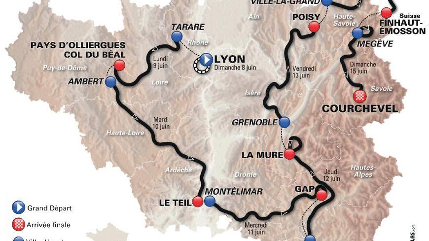 Le parcours du Critérium du Dauphiné 2014.