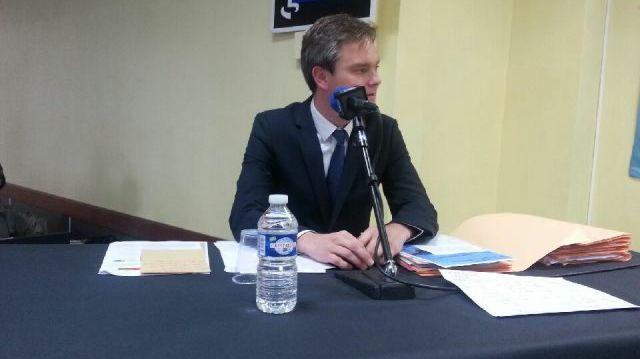 Le débat des candidats du second tour à Cherbourg : David Margueritte.