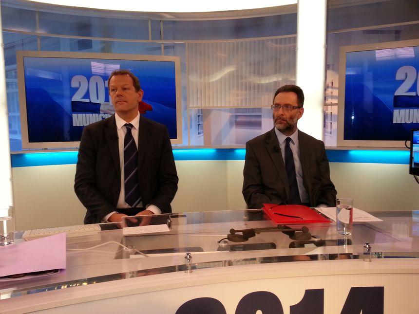 Thierry Bonté, le candidat PS et Yves Dupille, candidat FN - Radio France