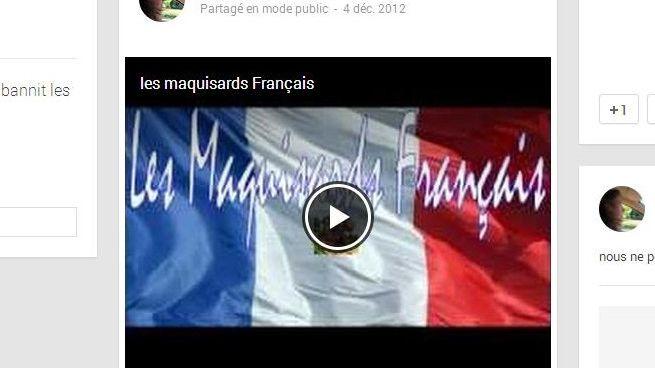 Capture d'écran de la page Google + de Catherine Cauzeret.