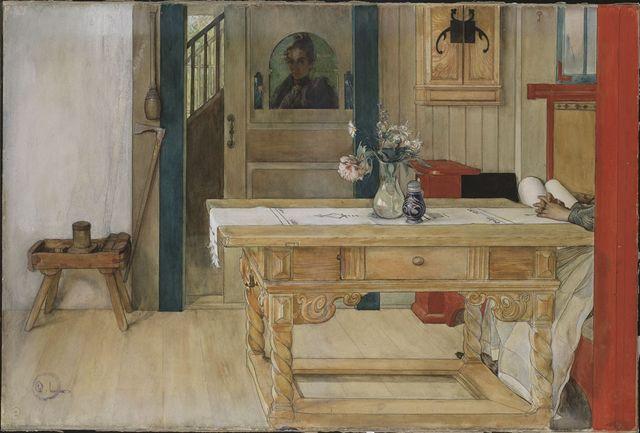 Le repos dominical - Carl Larsson