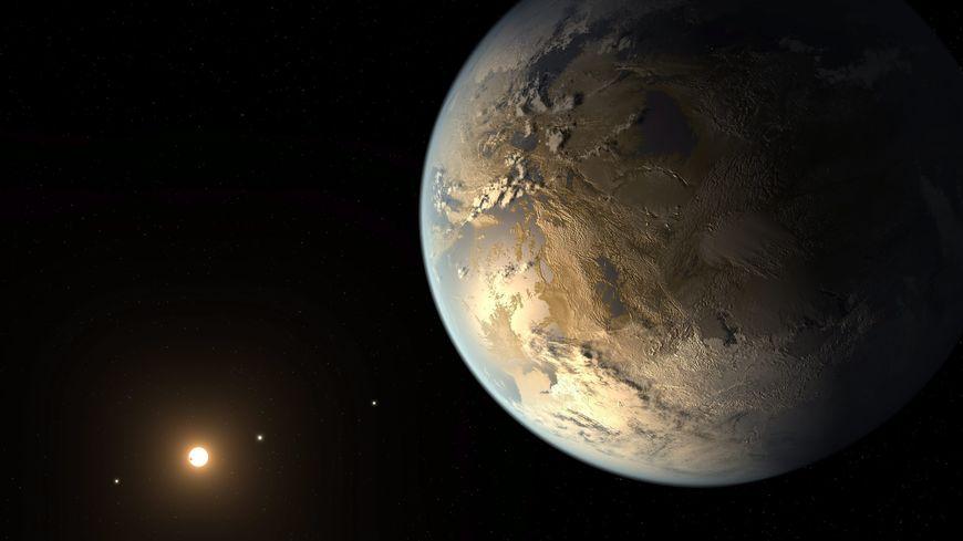Une vue d'artiste de la planète Kepler-186f
