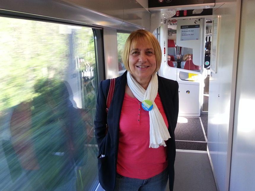 Françoise Leclerc, présidente de l'association des usagers des transports publics du Sud-Gironde - Radio France