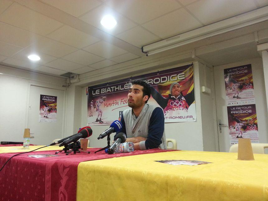 Martin Fourcade en conférence de presse à Font-Romeu - Radio France