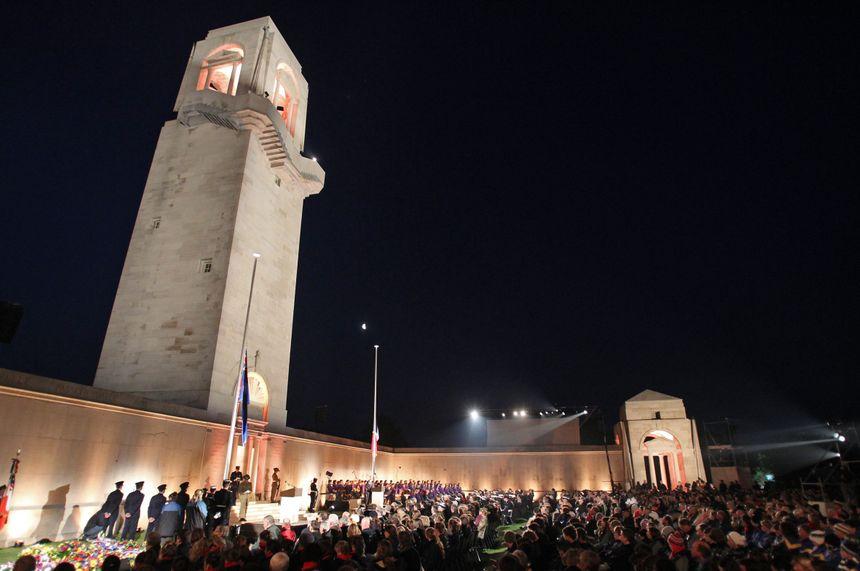 Journée de l'Anzac Day à Villers-Bretonneux dans la Somme - Fred Haslin - MaxPPP