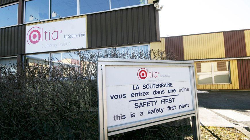 L'entrée de l'usine Altia à La Souterraine.