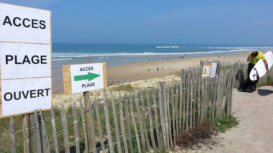 Direction la plage de Lacanau pour ce premier week-end des vacances de Pâques