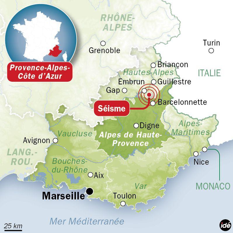 Le séisme ressenti dans les Alpes le lundi 7 avril. - IDÉ