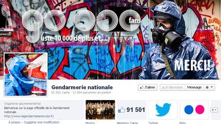 Page Facebook de la gendarmerie nationale (capture d'écran).