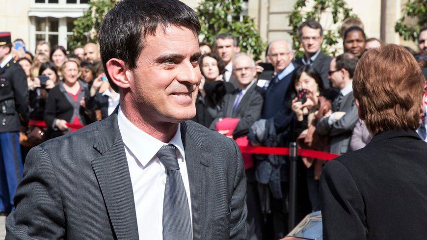 Manuel Valls, lors de la passation de pouvoir à Matignon le 1er avril