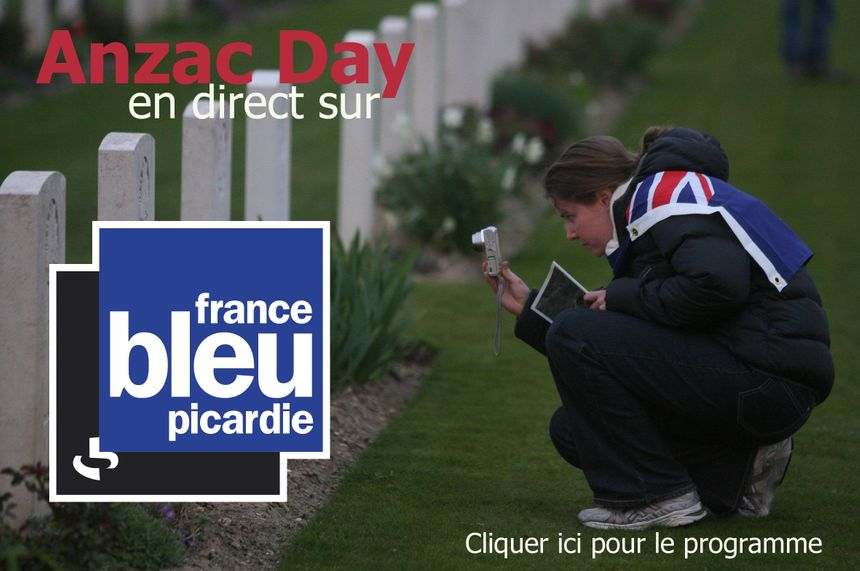 Anzac Day événement France Bleu Picardie - Eric Turpin - Radio France