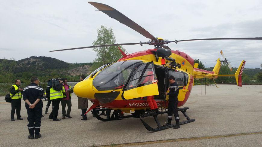 L'hélicoptère EC 145 de la Sécurité Civile