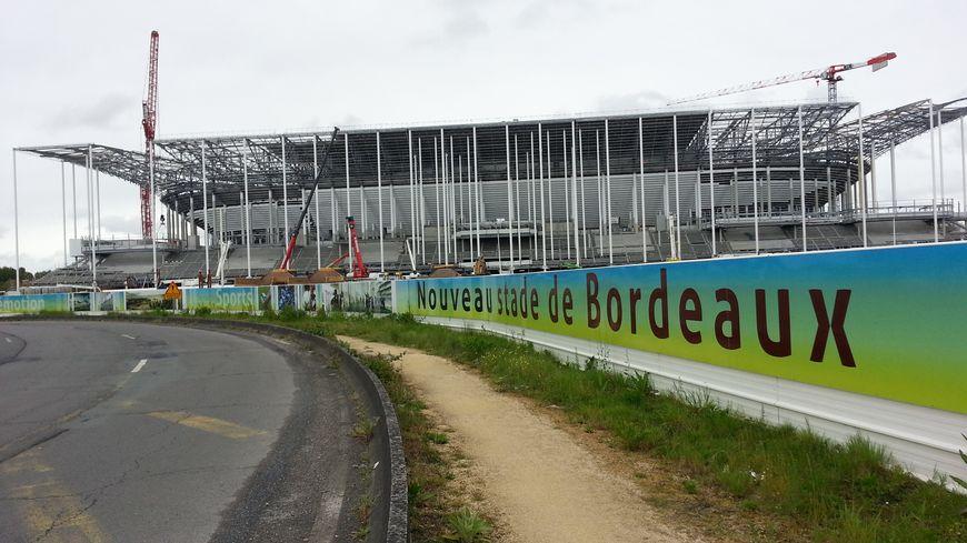 Le Nouveau Stade Bordeaux est encore en travaux jusqu'à avril 2015