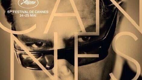 L'affiche du 67ème festival de Cannes, un portrait de Marcello Mastroianni