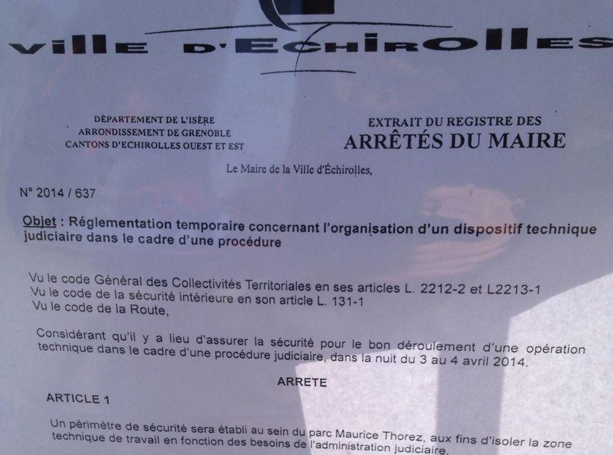 Une partie du quartier des Granges à Échirolles est bouclée pour les besoins de la reconstitution du meurtre de Kevin et Sofiane - Radio France