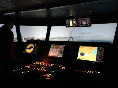 À l'intérieur du simulateur où s'entraînent les pilotes du Havre.  - Marine Laugénie - Radio France