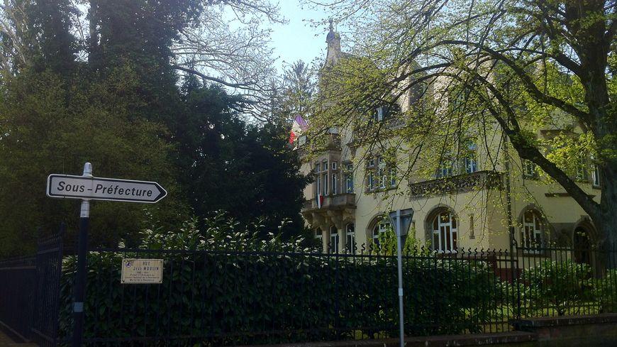 La sous-préfecture de Guebwiller.
