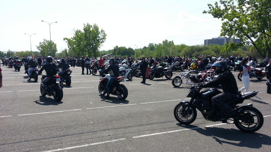 Entre 900 et 3500 motos se sont mobilisées