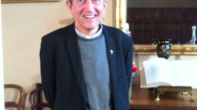 Monseigneur Pierre-Yves Michel évêque de la Drôme, le 5 avril 2014.