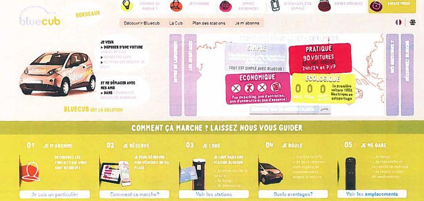 La publicité incriminée de la Bluecub - Radio France