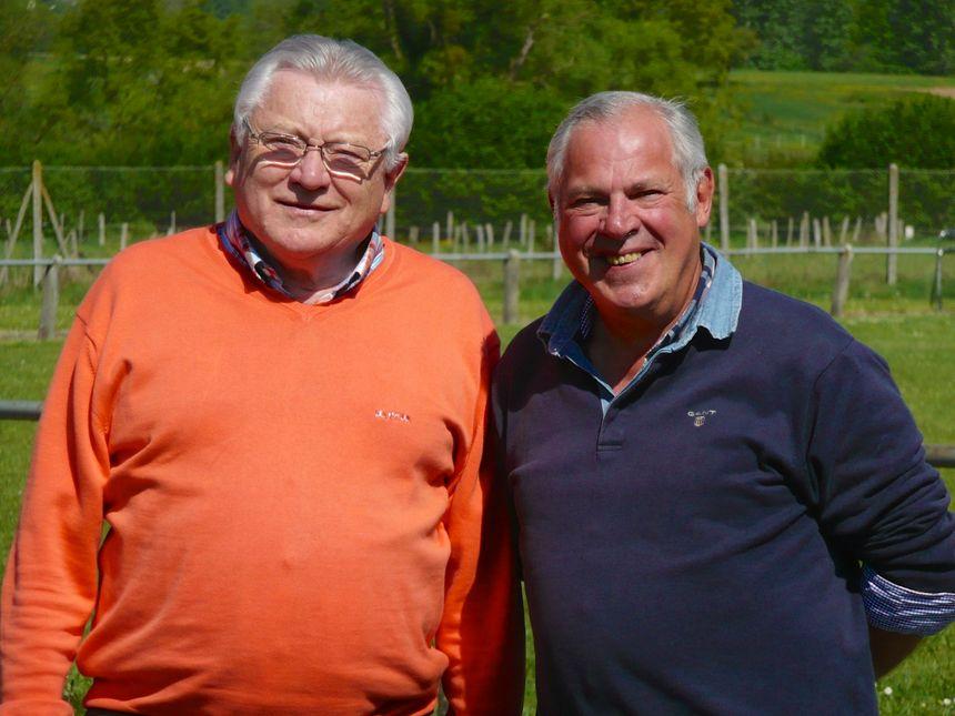 Pierre Kaetzel, mr le maire et Hubert Wencker, ancien boulanger de Monswiller - Radio France
