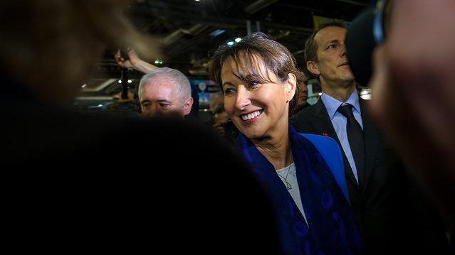 Ségolène Royal lors de son entrée au gouvernement de Manuel Valls