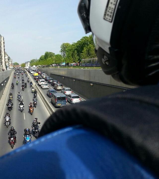 À Reims, les motards ont parcouru 23 kilomètres dans les rues de la ville. - Radio France
