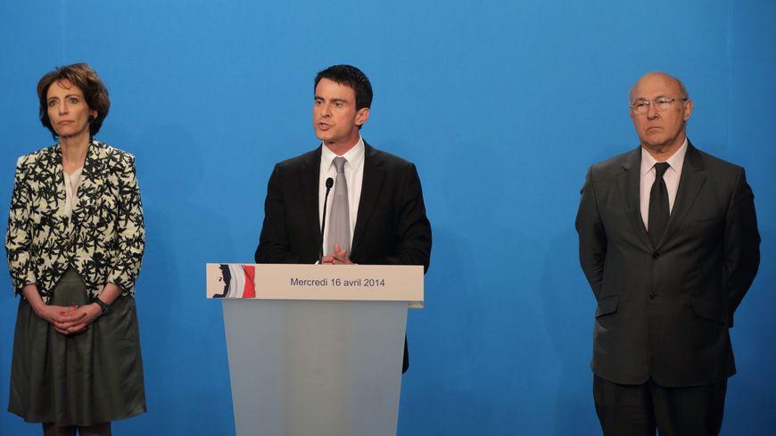 Manuel Valls a détaillé les 50 milliards d'économies à réaliser, accompagné de Marisol Touraine et Michel Sapin