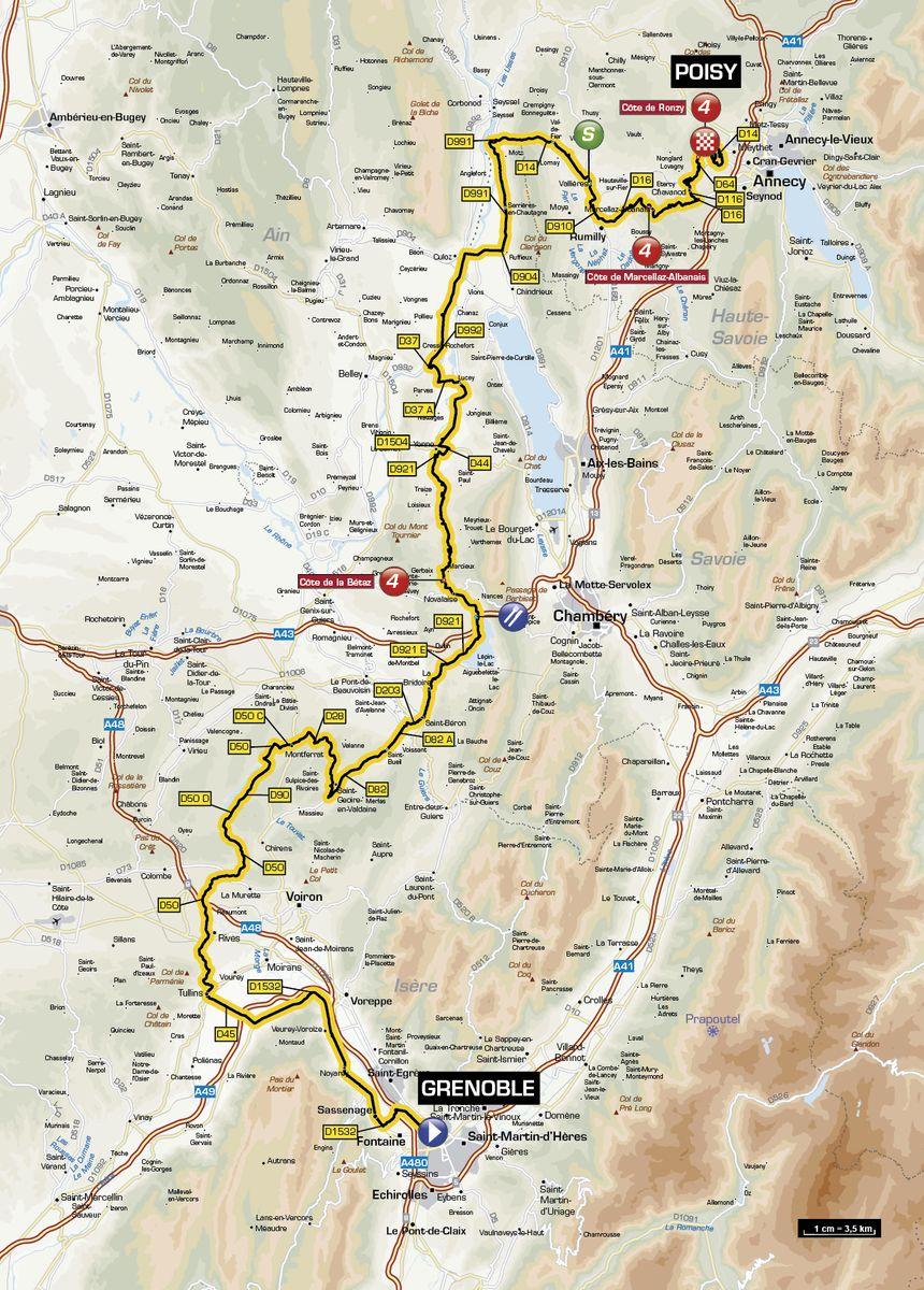 Critérium du Dauphiné   6e étape le 13 juin : Grenoble (38) - Poisy (74) soit 168 km - ASO