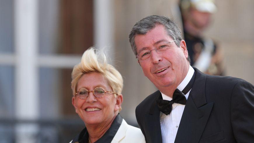 Le couple Balkany lors d'un dîner en l'honneur du Qatar à l'Élysée, en 2009