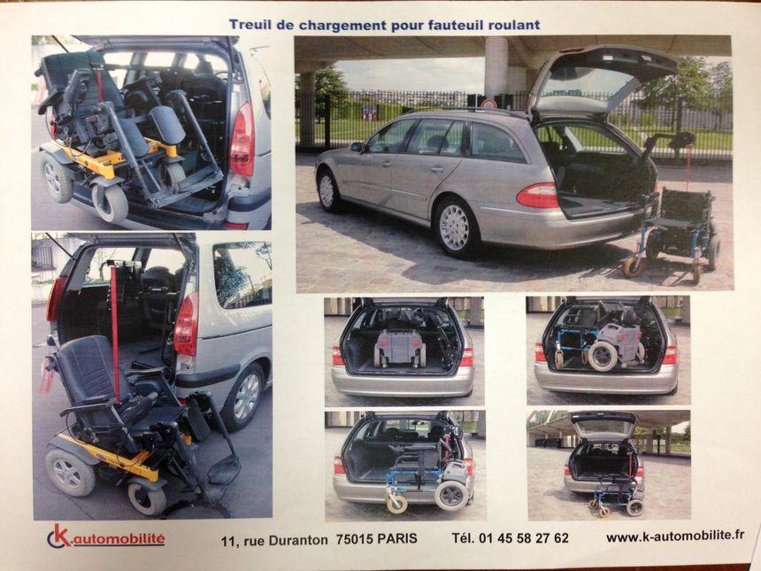 La mini-grue permet de charger le fauteuil dans le coffre. - Théo Maneval - Radio France