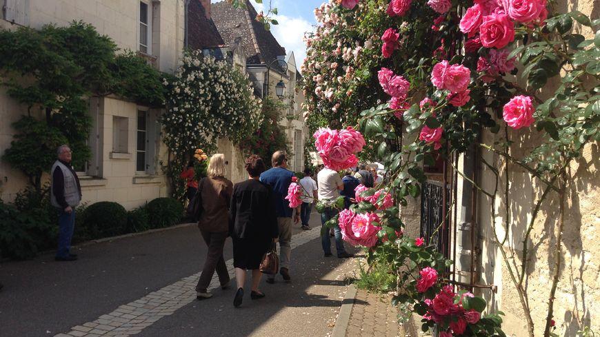 Les ruelles fleuries de Chédigny.