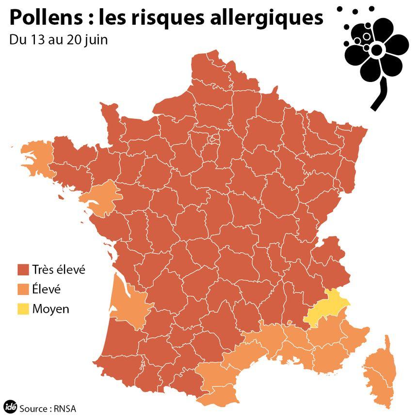 La carte du risque allergique, la semaine du 15 juin - IDÉ