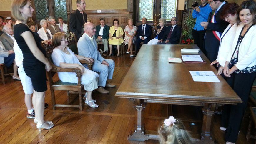 Les noces d'or et de diamant célébrés dans le Salon de Mariage à Libourne