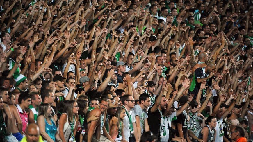 Les supporters de l'ASSE au stade Geoffroy Guichard (c) Maxppp